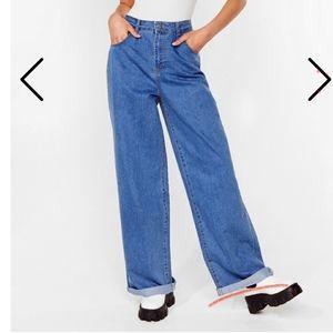 Wide leg slouchy Jean